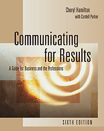 9780534562304: Communicating for Results: A Guide for Business and the Professions