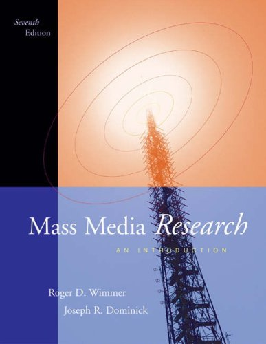 9780534563035: Mass Media Research: An Introduction (Non-InfoTrac Version)