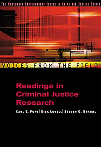9780534563769: Voices from the Field: Readings in Criminal Justice Research (Criminal Justice Series)
