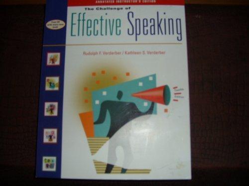 9780534563875: Challenge of Effective Speaking