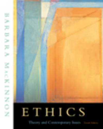 9780534564339: Ethics: Theory and Contemporary Issues
