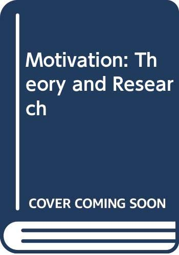 9780534568832: Motivation: Theory and Research