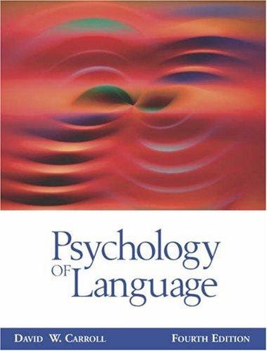 9780534568986: Psychology of Language