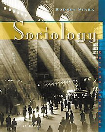 sociology infotrac internet edition by rodney stark stock image