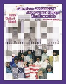 9780534569433: American Government and Politics Today: The Essentials, 2000-2001 Edition