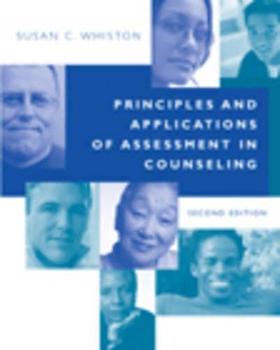 9780534569754: Principles and Applications of Assessment in Counseling