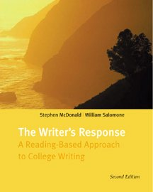 9780534573034: The Writer's Response: A Reading-Based Approach to College Writing