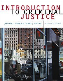 Introduction to Criminal Justice (with InfoTrac): Joseph J. Senna