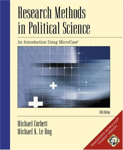 9780534573614: Research Methods in Political Science: Introduction Thru MicroCase