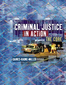 9780534574567: Criminal Justice in Action With Infotrac: The Core