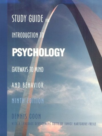 Study Guide for Intorduction to Psychology: Gateways: Dennis Coon