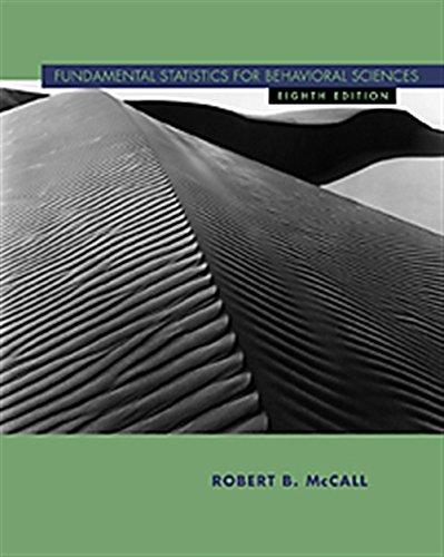 Fundamental Statistics for Behavioral Sciences: McCall, Robert B.