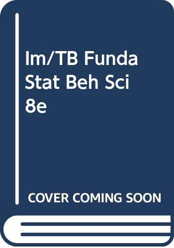 Im/TB Funda Stat Beh Sci 8e (0534577822) by [???]