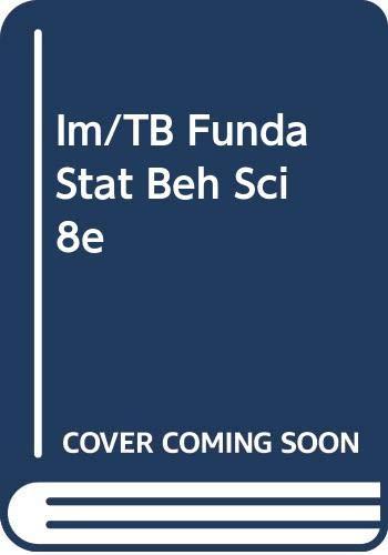 9780534577827: Im/TB Funda Stat Beh Sci 8e