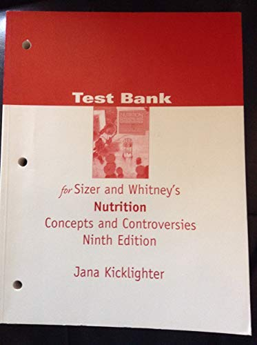 9780534578053: Nutrition Concepts And Controversies Test Bank