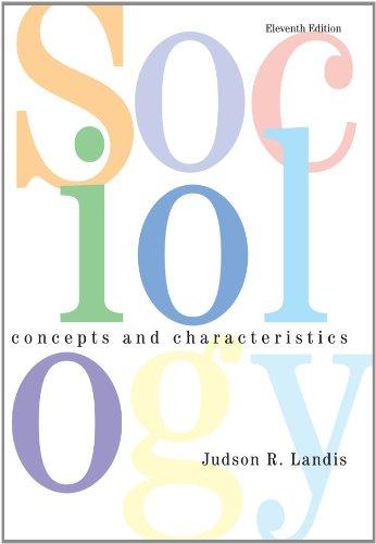 Sociology : Concepts and Characteristics: Judson R. Landis