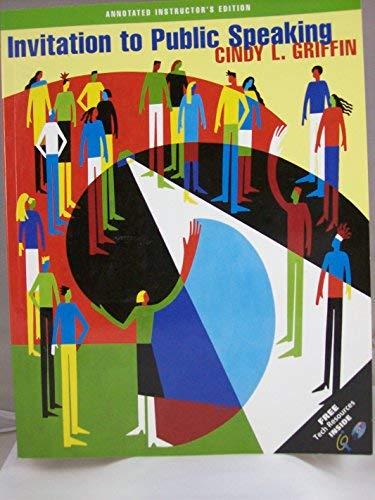 9780534579265: Invitation to Public Speaking