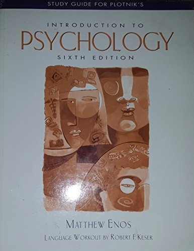 9780534580025: Introduction to Psychology (Study Guide)