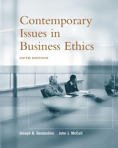 9780534584641: Contemporary Issues in Business Ethics