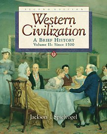 9780534587093: Western Civilization: A Brief History, Volume II, Since 1550 (Chaps 14-29) (with InfoTrac)