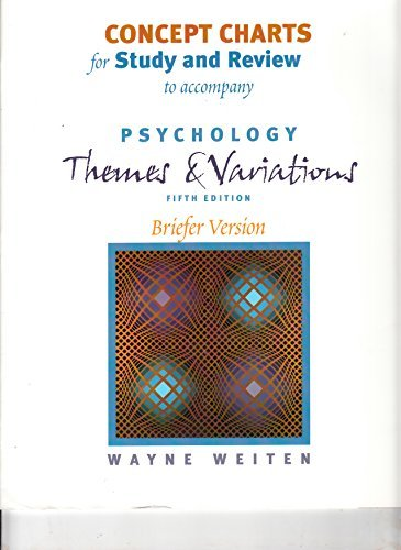 9780534593209: Concept Charts for Study and Review for Psychology: Themes and Variations