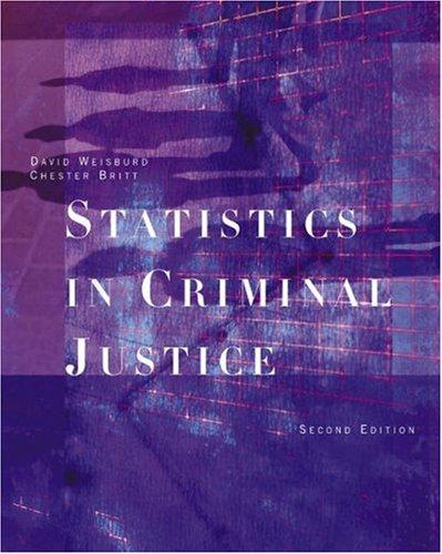 9780534595081: Statistics in Criminal Justice