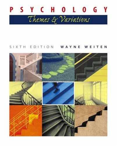 9780534597696: Psychology: Themes and Variations (with Concept Charts and InfoTrac) (Available Titles CengageNOW)