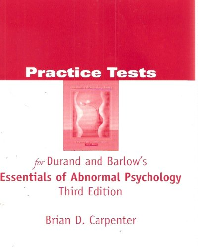 9780534598167 Practice Tests For Durand And Barlow S