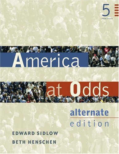 9780534601331: America at Odds: Alternate Edition