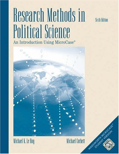 9780534602352: Research Methods in Political Science: An Introduction Using MicroCase ExplorIt