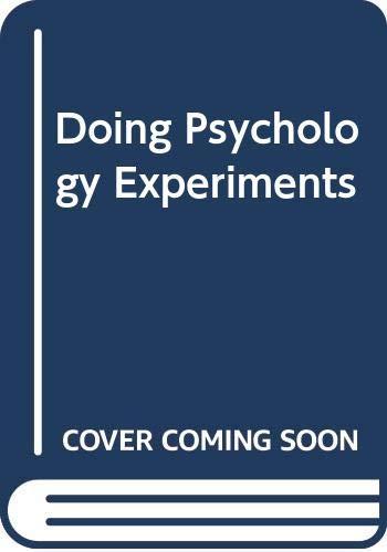 9780534602581: Doing Psychology Experiments