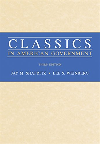 9780534602710: Classics in American Goverment