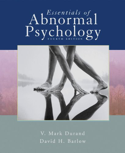Essentials of Abnormal Psychology (with CD-ROM): V. Mark Durand,
