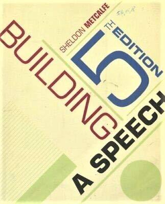 9780534606626: IE BUILDING A SPEECH 5E [Taschenbuch] by METCALFE