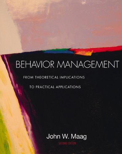 9780534608873: Behavior Management: From Theoretical Implications to Practical Applications (Non-InfoTrac Version)