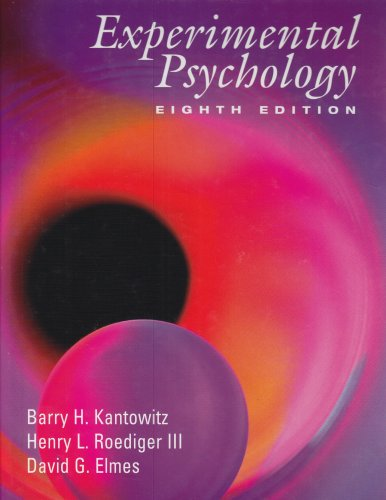9780534611286: Experimental Psychology: Understanding Psychology Research (with InfoTrac)