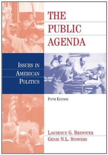 9780534618308: The Public Agenda: Issues In American Politics