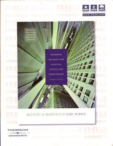 Research Methods for Criminal Justice & Criminology: n/a