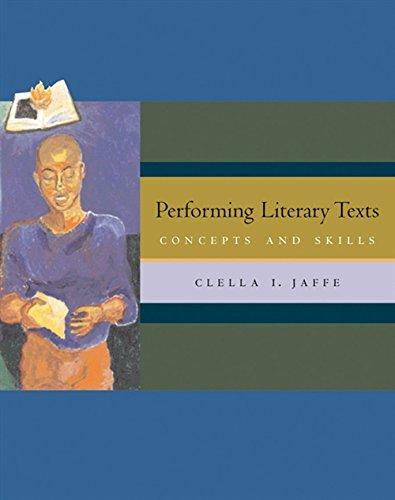 9780534620011: Performing Literary Texts: Concepts and Skills