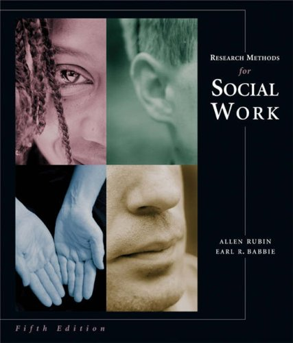 9780534621094: Research Methods for Social Work (with InfoTrac)