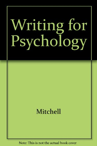 9780534622534: Writing for Psychology: A Guide for Students