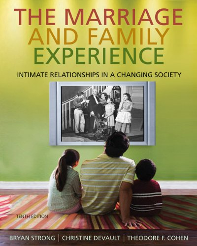 9780534624248: The Marriage and Family Experience: Intimate Relationships in a Changing Society
