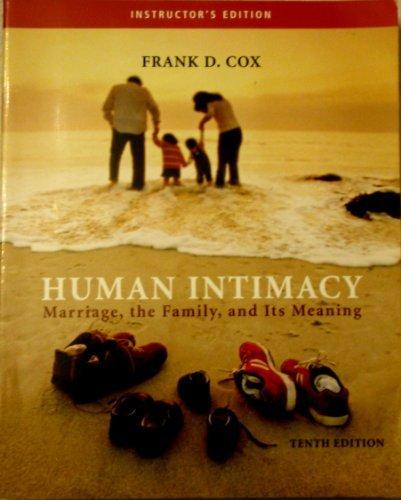 9780534625337: IE Human Intimacy 10e