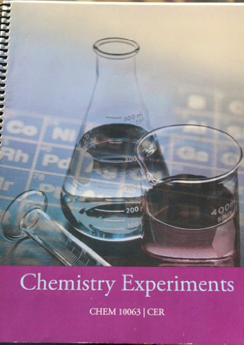 9780534625979: Signature Lab Series-Chemistry Experiments/CHEM 10063