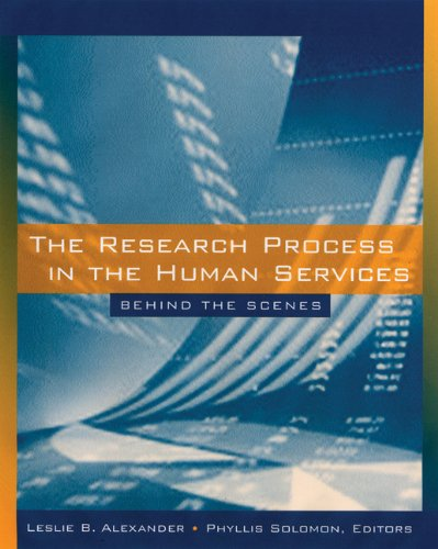 9780534626105: The Research Process in the Human Services: Behind the Scenes (Social Work Research Methods / Writing / Evaluation)
