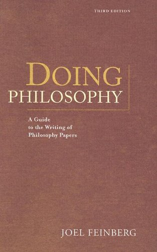9780534626266: Doing Philosophy: A Guide to the Writing of Philosophy Papers