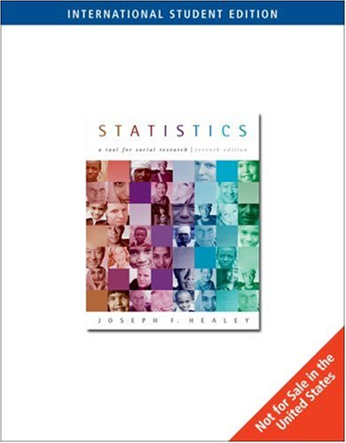 9780534628109: Statistics: A Tool for Social Research