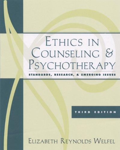 9780534628338: Ethics in Counseling and Psychotherapy: Standards, Research, and Emerging Issues