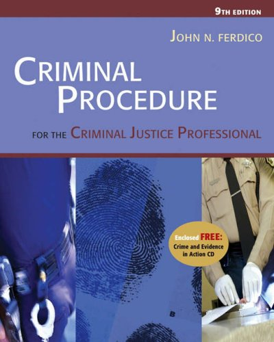 9780534629199: Criminal Procedure for the Criminal Justice Professional (with CD-ROM and InfoTrac )