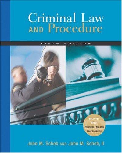 9780534629250: Criminal Law and Procedure